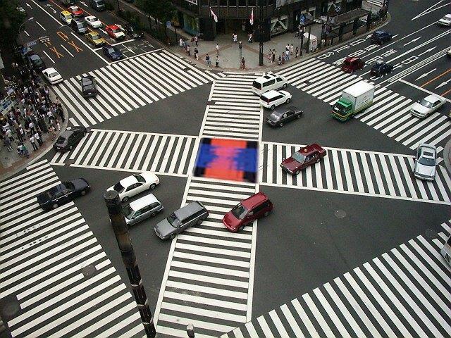 Tokyo Project Ginza Site: Kreuzung